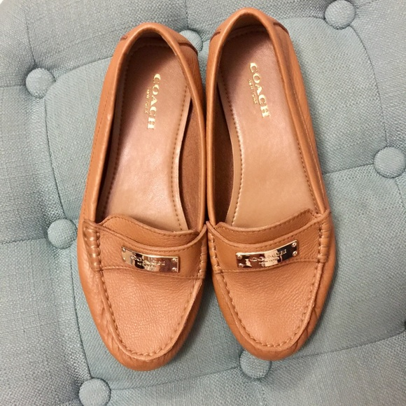 9fd029cbc39 Coach Shoes - Coach Fredrica Ginger Leather Loafers (NWOT)
